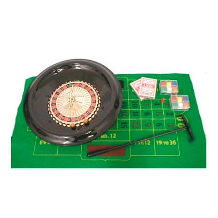 Ruleta de plástico 16 con baraja, paño y fichas
