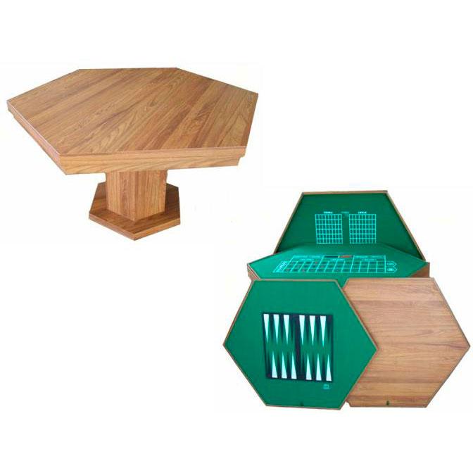 Mesa Multijuegos Hexagonal