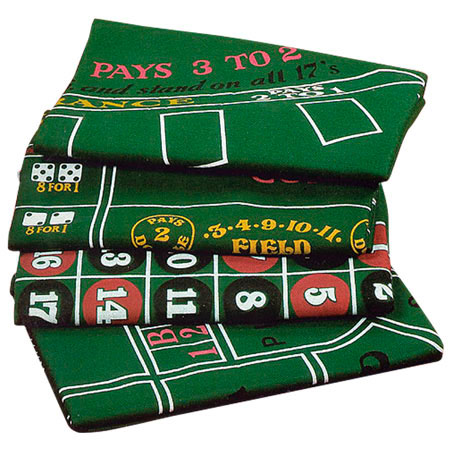 Tapetes de Casino, Poker, Ruleta, Dados.