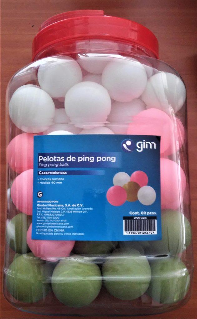 Bote de 60 Pelotas de Ping Pong