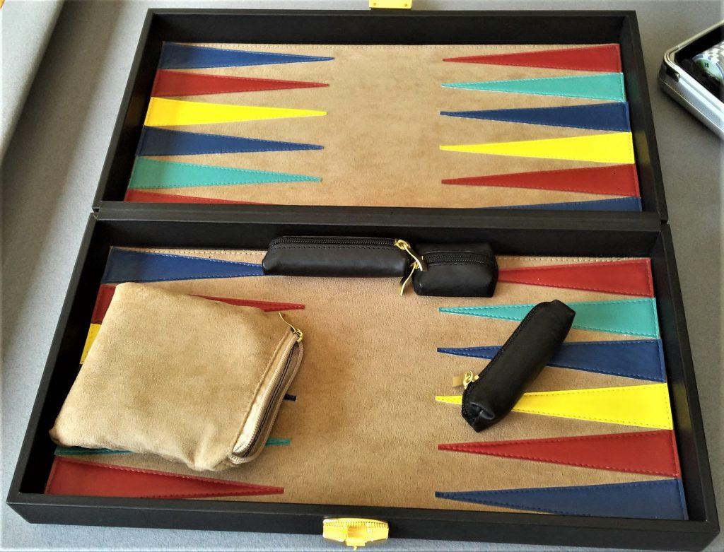 Backgammon de Piel mediano