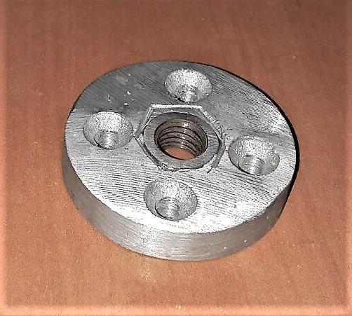 Platina de Casco (tuerca) de media pulgada